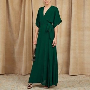 Beauty!! NWOT Reformation Winslow Maxi Dress - Eme